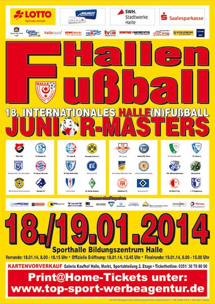 Plakat HALLEN(N)FUßBALL JUNIOR-MASTERS