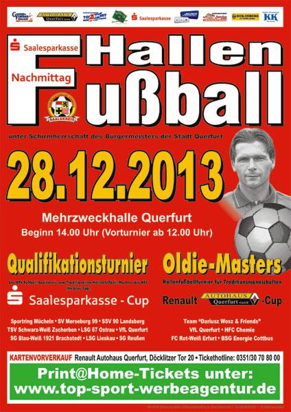 Plakat Fußballnachmittag der Saalesparkasse