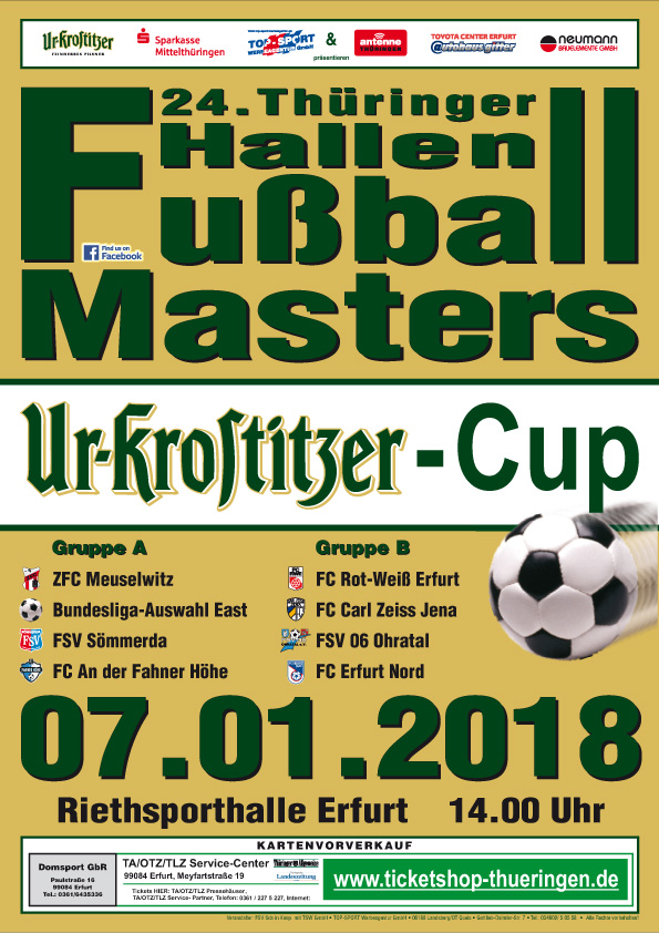24. Thüringer Hallenfußball-Masters in Erfurt